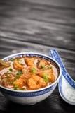 Sopa asiática do camarão fotos de stock royalty free