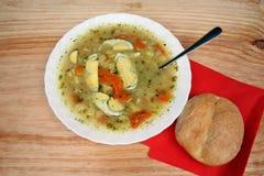 Sopa blanca del borscht Imagenes de archivo