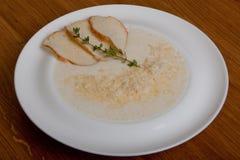 Sopa Boulanger del queso Fotos de archivo libres de regalías