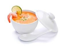 Sopa caliente de los mariscos del alimento Imagenes de archivo