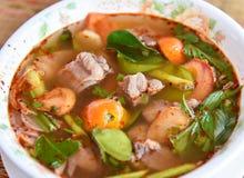 Sopa caliente de Tom yum fotografía de archivo