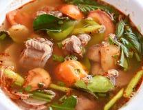Sopa caliente de Tom yum foto de archivo libre de regalías