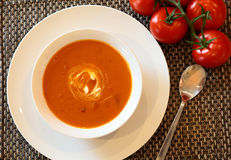 Sopa caliente del tomate Fotos de archivo libres de regalías