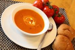 Sopa caliente del tomate Imagenes de archivo