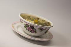 Sopa caliente y amarga de la carne de vaca Lemony Imagenes de archivo