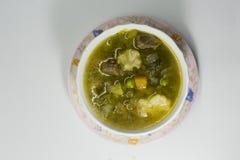 Sopa caliente y amarga de la carne de vaca Lemony Fotos de archivo libres de regalías