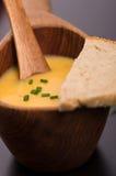 Sopa caseiro da cenoura do vegetariano Imagens de Stock Royalty Free