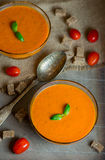 Sopa caseiro do tomate Fotografia de Stock
