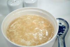 Sopa china de la aleta de los tiburones Foto de archivo libre de regalías