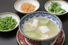Sopa china del bacalao y de la calabaza Imagen de archivo libre de regalías