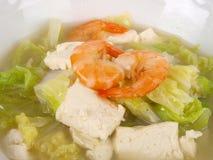 Sopa chinesa do tofu do estoque de galinha imagens de stock