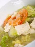 Sopa chinesa do tofu do estoque de galinha fotografia de stock royalty free
