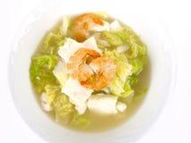 Sopa chinesa do tofu do estoque de galinha Fotografia de Stock