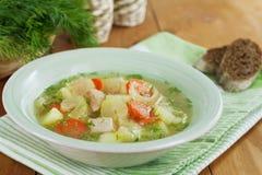 Sopa com carne e aipo Fotos de Stock