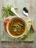 Sopa com feijões verdes fotografia de stock royalty free