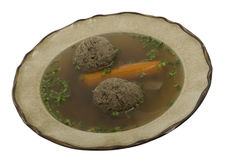 Sopa com bolinho de massa do fígado fotos de stock royalty free