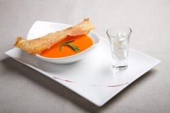 Sopa com brinde Foto de Stock