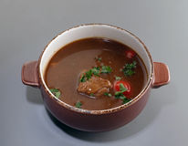 Sopa com carne fotografia de stock
