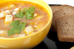 Sopa com feijões Fotos de Stock Royalty Free