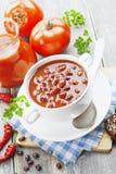 Sopa com feijões Fotografia de Stock
