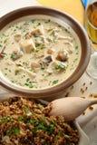 Sopa com galinha Imagens de Stock