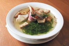Sopa com um peixe fotos de stock royalty free