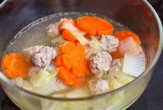 Sopa com vegetais Imagens de Stock Royalty Free