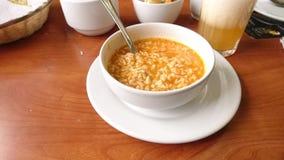 Soup. Comida con sopa royalty free stock photos