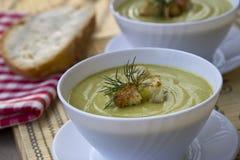 Sopa con el calabacín Fotografía de archivo libre de regalías