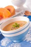 Sopa con la calabaza Imagen de archivo libre de regalías