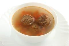 Sopa con las albóndigas Fotos de archivo