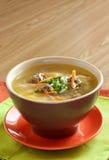 Sopa con los tallarines y las albóndigas Fotos de archivo