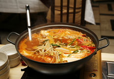 Sopa coreana Foto de Stock
