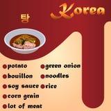 Sopa coreana Guk de la carne Imagen de archivo libre de regalías