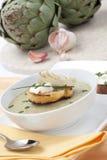 Sopa cremosa de la alcachofa Fotografía de archivo