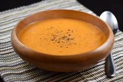 Sopa cremosa del tomate Imagenes de archivo