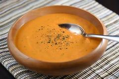 Sopa cremosa del tomate Fotos de archivo