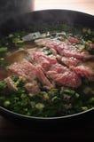 Sopa crua da carne fotos de stock