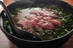 Sopa crua da carne imagens de stock
