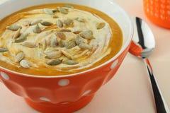Sopa da abóbora Fotografia de Stock