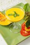 Sopa da abóbora com vegetal Fotografia de Stock Royalty Free