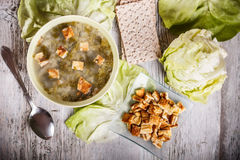 Sopa da alface Fotos de Stock