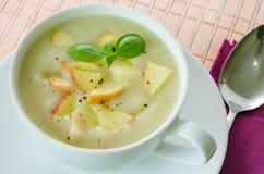 Sopa da batata e da maçã Imagem de Stock