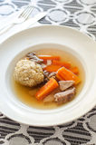 Sopa da bola do Matzah fotos de stock