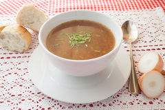 Sopa da cebola Foto de Stock