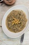 Sopa da cebola com pão torrado Imagem de Stock