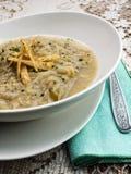 Sopa da cebola com pão torrado Imagem de Stock Royalty Free
