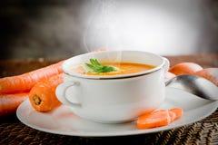 Sopa da cenoura Imagem de Stock