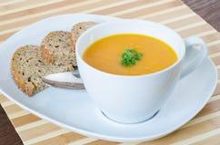 Sopa da cenoura com gengibre Imagem de Stock Royalty Free