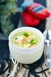 Sopa da couve-de-Bruxelas Fotografia de Stock Royalty Free